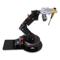 Assembled AS-6DOF Aluminium Robotic Arm Metal Arduino Robot Teaching Platform