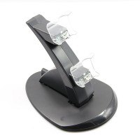 LED Dual Controller Charger Dock Station Stand Charging for Playstation PS4