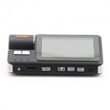 1080P Full HD 120 Degree Dual Lens Night Vision GPS Dash External SP-801 Rear Camera+Video Recorder Car Dashboard Vehicle DVR