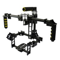 TZT Universial FPV 3 axis DSLR Brushless Gimbal Glass Fiber Stabilized Camera Mount PTZ for 5D2 5D3 D800 Aerial Photography