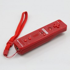Wireless Motion Plus Remote Controller+Silicone Case +Wristband for Nintendo Wii Red