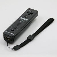 Wireless Motion Plus Remote Controller+Silicone Case +Wristband for Nintendo Wii Black