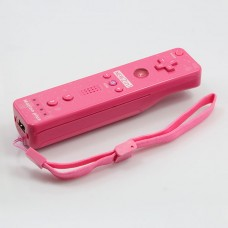 Wireless Motion Plus Remote Controller+Silicone Case +Wristband for Nintendo Wii Pink