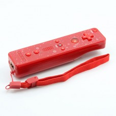 Wireless Remote Controller+Silicone Case +Wristband for Nintendo Wii-Red