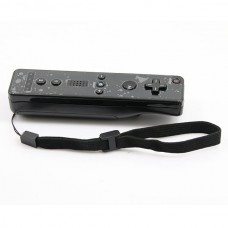 Wireless Remote Controller+Silicone Case +Wristband for Nintendo Wii-Black