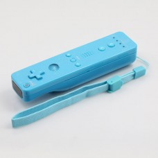 Wireless Remote Controller+Silicone Case +Wristband for Nintendo Wii-Skyblue