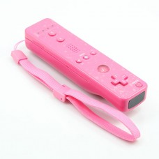 Wireless Remote Controller+Silicone Case +Wristband for Nintendo Wii Pink