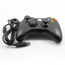 Replacement Wired Controller w/ Full Shell for Xbox 360 Joystic Xbox360 Controller - Black