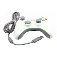 Replacement Wired Controller w/ Full Shell for Xbox 360 Joystic Xbox360 Controller -white