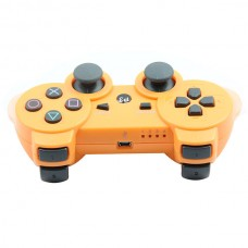 Replacement ABS Full Case for PS3 / PS3 Slim / PS3 4000 Controller - Electroplating Orange