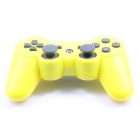 Replacement ABS Full Case for PS3 / PS3 Slim / PS3 4000 Controller - Electroplating Yellow