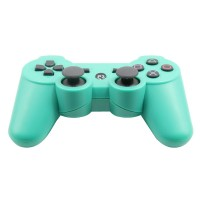 Replacement ABS Full Case for PS3 / PS3 Slim / PS3 4000 Controller - Electroplating Green