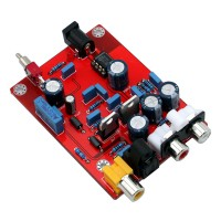 TDA1543 CS8412 Fiber Coaxial Decoder to RCA Board YJ for Amplifier