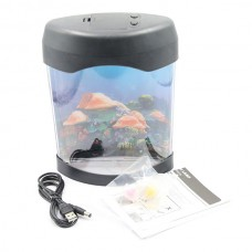 Electronic Jellyfish Aquarium Tank Healing Nightlight Creative Gift for Valentine's Day Gift Usb Gadgets for Office