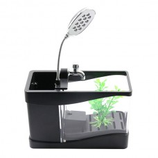Lileng-918 Home Aquarium Ultra Quiet Lightweight LED USB Mini Aquarium