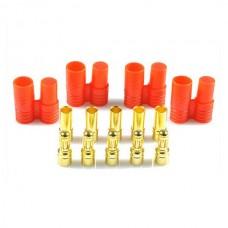5pcs Set 3.5mm Gold Bullet Banana Connector Plug w/ Protector for 450 RC copters Quad-hexa copters