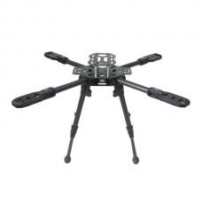SAGA AD500PRO 3K Carbon Fiber FPV Quadcopter Aircraft Frame Kit w/Landing Gear
