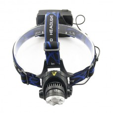 Zoomable 1200Lumin CREE T6 Super Bright Head Lamp,3 Mode Rechargeable LED Head light Outdoor Bike Bicycle Headight
