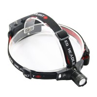 High Power Dull Polish 3-Mode Zoom Cree Q5 LED Focus Headlamp Camping Zoomable Headlight Black 280LM)