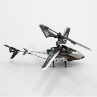 ST 585 3.5CH MINI RC Remote Radio Control Heli 3D Gyro Helicopter Toy Gift copter/ Black+Silver