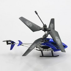 S04-1 2CH Infrared Remote Control R/C Helicopter with Light Radio Contorl Toys Blue 210 x 96 x 46mm