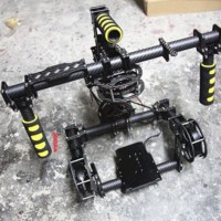 3-axis Red EPIC SCARLET Handle Brushless Gimbal Stabilizer Camera Mount 8108x4 Motor