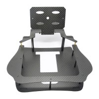 3K Twill Carbon Fiber 7/8 inch Monitor Bracket Folding Remote Controller Holder for Ground Station Framing