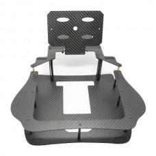3K Twill Carbon Fiber 7/8 inch Monitor Bracket Folding Remote Controller Holder for Ground Station Framing