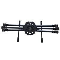 850mm Carbon Fiber Folding Multi-Rotor Hexacopter Aircraft Frame Kit w/Landing Gear