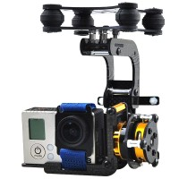 Gopro 3 Carbon Fiber 2 Axis FPV Brushless Camera Gimbal Mount PTZ(Debug Free) for FPV Photography