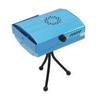 S09B Mini 4-in-1 Moving Party Stage Laser Light Mini Projector Lighting Lamp - Blue
