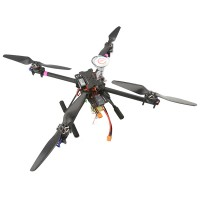 TZT X400 3K Carbon Fiber Mini Quad Quadcopter Aircraft Frame Kit W/ Motor ESC Propeller
