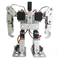 11DOF Biped Robotics 2-Legged Stand Humanoid Robot Frame Kit with Servo Metal Horn & Servo