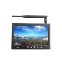 "HIEE 7 inch FPV Monitor/ Built-in 32CH 5.8G Receiver 7"" LCD Sreen with Sun Shading Hood and Antenna"