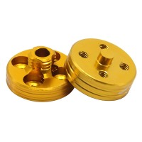 1 Pair CW/CCW CNC Aluminum Alloy Quick Mount Propeller Adapter Propeller Base Holder-Yellow