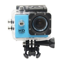 F23 1.5-inch LCD 30M Waterproof FHD 1080P H.264 Sports Action Cam Digital Camcorder Car DVR Mini DV with HDMI /TF Slot (Blue)