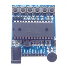 ISD1760 Audio Sound Recording Module w/ Microphone about 75 Secs Voice Recording - Deep Blue