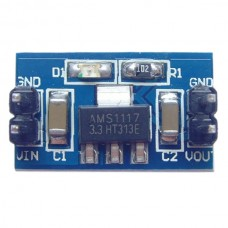 AMS1117 3.3V CCL + Components Power Module Deep Blue Input Voltage Range 4.75V-12V w/ Power Indicator
