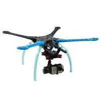 FPV S500 Quadcopter F450 Upgrade Version Frame Kit w/ 2 Axis Gopro Brushless Gimbal Combo