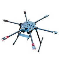 HMF865 S800 Carbon Fiber Hexacopter Folding Six Axis FPV Aircraft Frame Kit w/ Landing skid