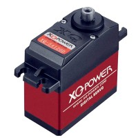 XQ-POWER HVXQ-S4120D Titanium Gear 20KG Large Torque Force High Voltage Digital Servo for Vehicle Use
