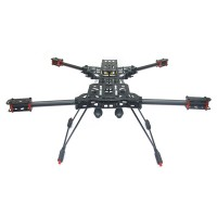 ATG X4 680mm Alien Carbon Fiber Quadcopter Frame Kit w/ 12mm Gimbal Mounting Tube Suit DJI Naza