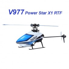 WLtoys V977 Power Star X1 6CH 2.4G Brushless RC Helicopter New Original Package Blue (Battery not Included)