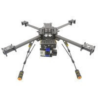 GF450 Pure Carbon Fiber Quadcoptor 450mm Multi-coptor Frame Kit w/ Light Weight Landing Skid Gear for FPV
