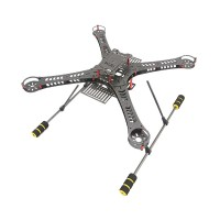 Upgrade GF-360 360mm Carbon Fiber Frame Kit Quadcoptor Four Axis Multi-rotor w/ Light Weight Landing Skid