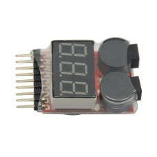 1-8S Power Monitor BB Ring Low Voltage Display (Adjustable) Alarm for For Rc Helicopter Multicopter Boat Car