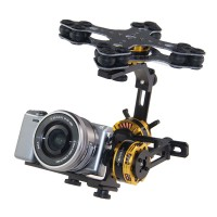 DYS Aluminium Alloy 3 Axis Brushless Gimbal Camera PTZ Kit+3pcs Motor for Sony NEX ILDC Camera Aerial Photography
