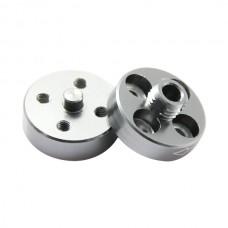1 Pair CW/CCW Silver CNC Aluminum Alloy Quick Mount Propeller Adapter Propeller Base Holder