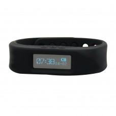 Wristband Pedometer Wireless Activity Sleep Tracker 4.0 Bluetooth -Black