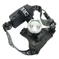 Hot Sell Waterproof 1600 Lumens CREE XML T6 LED High Power Headlamp Rechargeable Headlight